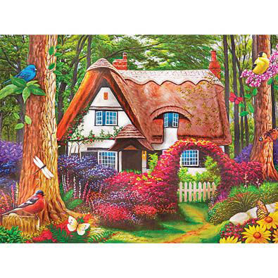 Cottage In The Woods 500 Piece Jigsaw Puzzle