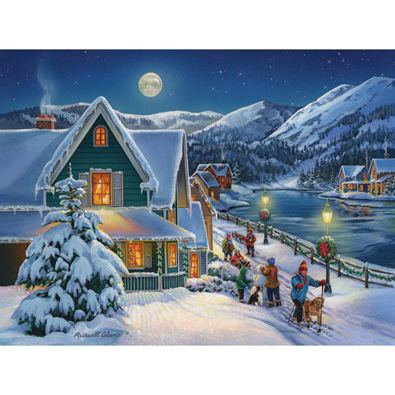 Holiday Moon 500 Piece Jigsaw Puzzle