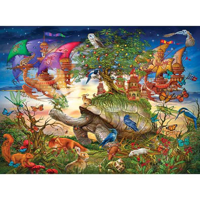 Evening Stroll 1000 Piece Holographic Jigsaw Puzzle
