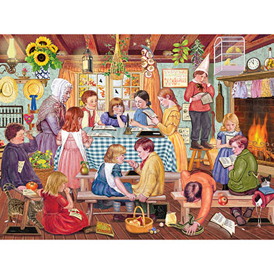 Miss Prinn's Prairie School 300 Large Piece Jigsaw Puzzle