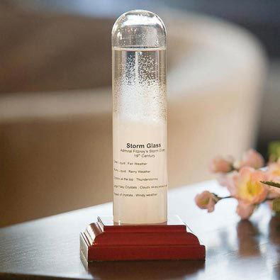 Fitzroy Historic Storm Glass 2Pc Weather Instrument