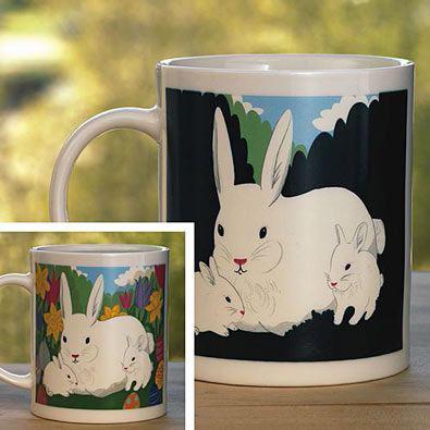 Mysterious Color Changing Bunny Mug