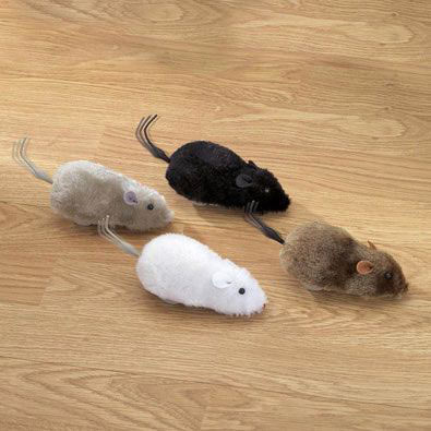 Set of 4: Wind Up Racing Mice