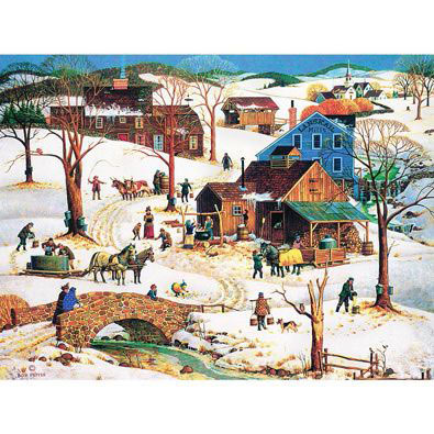 Maple Sugar Time 300 Large Piece Jigsaw Puzzle