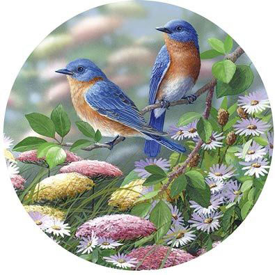 Meadow Blue 1000 Piece Round Jigsaw Puzzle
