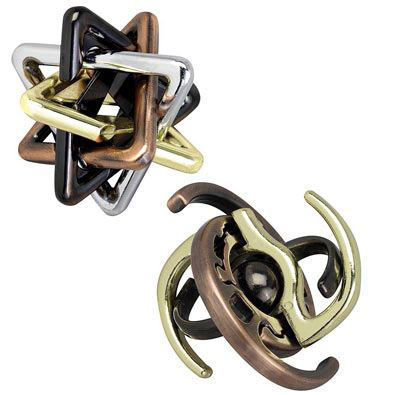 Set of 2: Mesmerizing Metal Puzzles