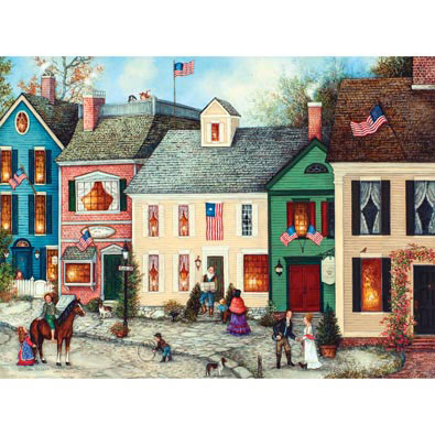 Flag Street 500 Piece Jigsaw Puzzle