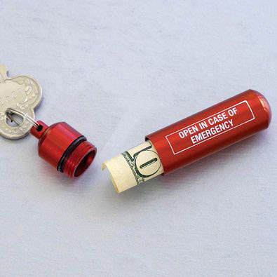 Emergency Keychain Money Capsule