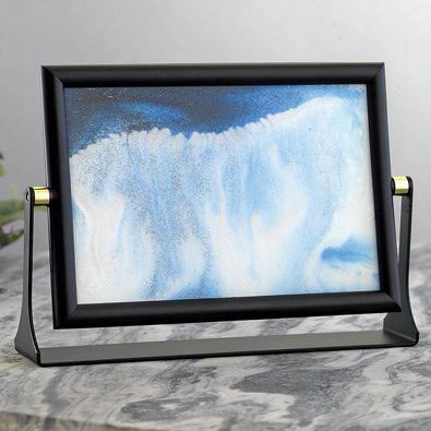 Blue Sand Waves Moving Art
