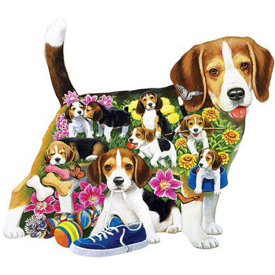 Beagle Brigade 300 Large Piece Shaped Jigsaw Puzzle
