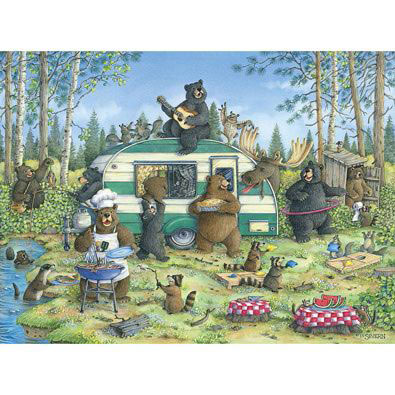Quick View Happy Campers 1000 Piece Jigsaw Puzzle