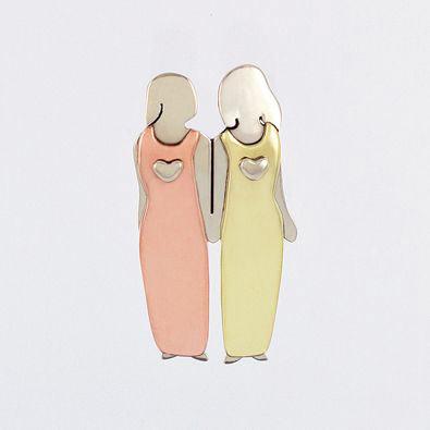 Friends Forever Pin - 2 Women
