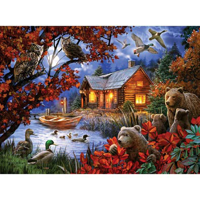 Moonlight Serenity 1000 Piece Jigsaw Puzzle Bits And Pieces