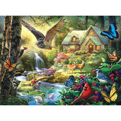 Forest Cottage 1000 Piece Jigsaw Puzzle