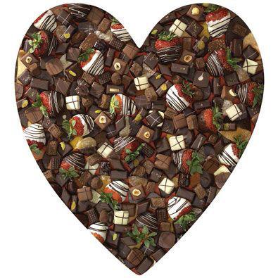 Chocolate Heart 750 Piece Shaped Jigsaw Puzzle