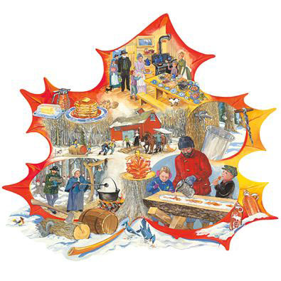 Maple Sugaring 300 Large Piece Shaped Jigsaw Puzzle