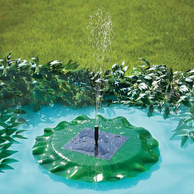 Floating Solar Lily Pad Fountain