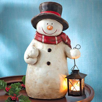 Ceramic Snowman Tea Light Holder