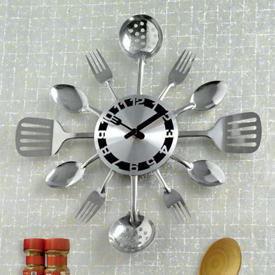 Kitchen Utensil Clock
