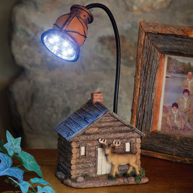 Cozy Cabin LED Lamp