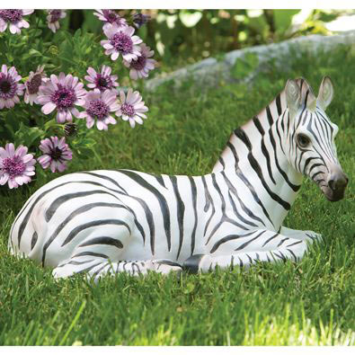 Zoey The Zebra Animal Garden Sculpture