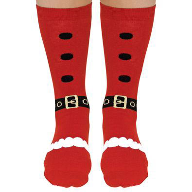 Santa Festive Holiday Novelty Socks