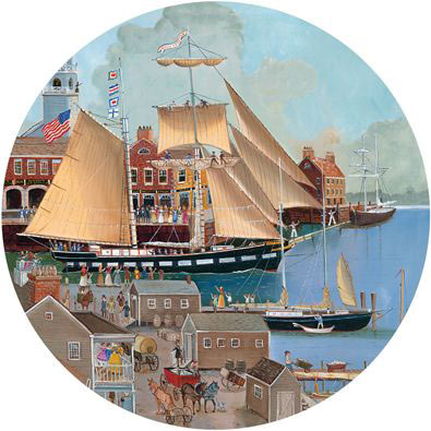Lass That Loves A Sailor 1000 Piece Round Jigsaw Puzzle