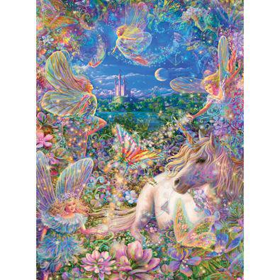 Fairies & Enchanting Butterflies 300 Large Piece Glitter Effects Jigsaw Puzzle