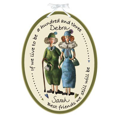 Personalized Best Friends Wall Plaque