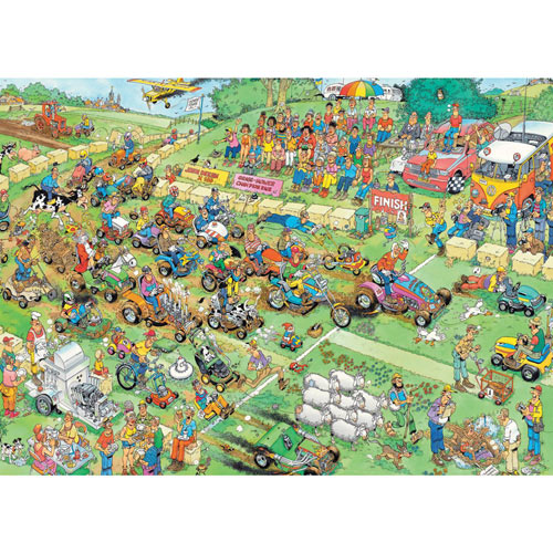 Lawn Mower Race 2000 Piece Jigsaw Puzzle