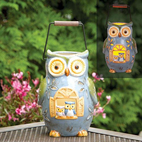 LED Owl Lantern