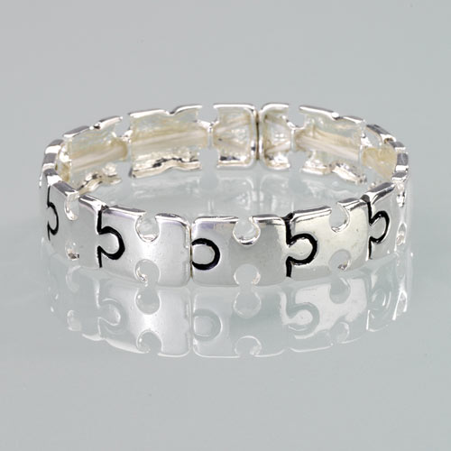 Stretch Puzzle Pieces Bracelet
