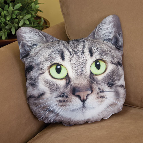 Cat Pillow - Gray Tabby