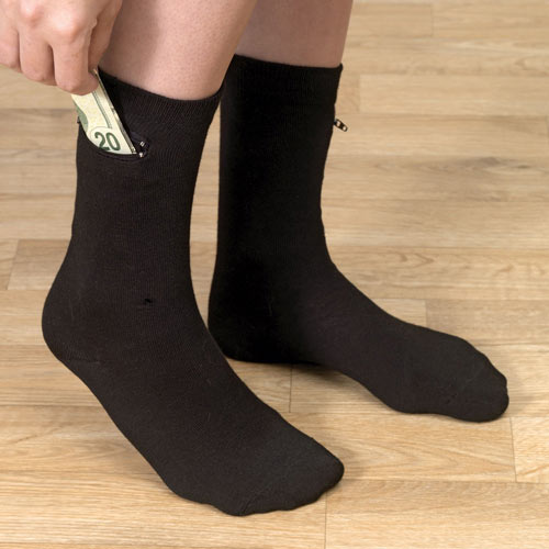 Set of 2 Pairs: Pocket Socks