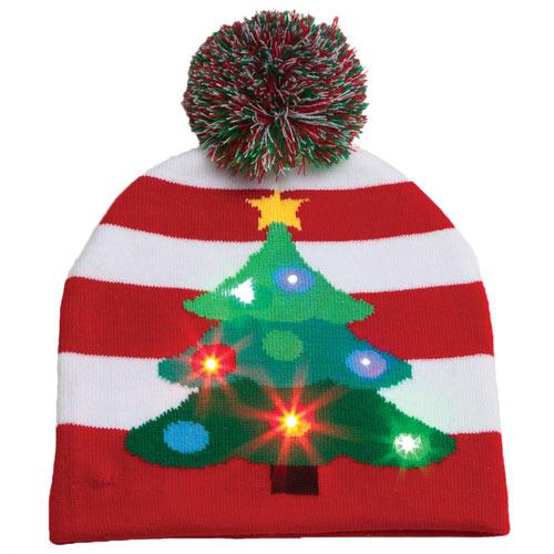 Christmas Tree LED Light-Up Hat