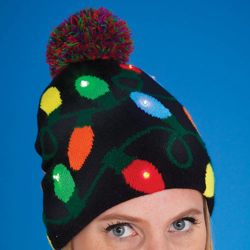 Christmas Lights LED Light-Up Hat