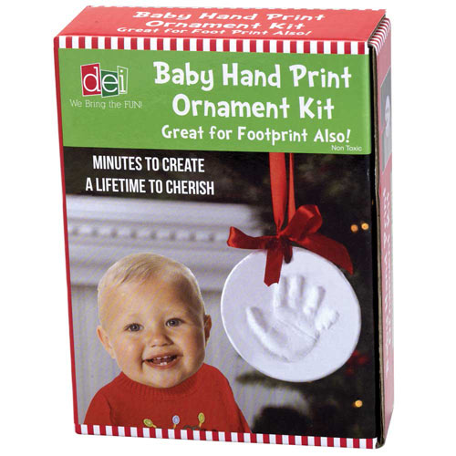 Baby Hand Print Ornament Kit Craft