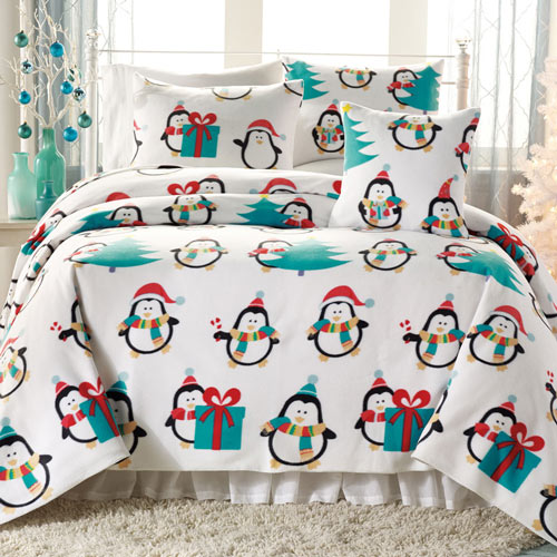 Penguin Fleece Blankets & Accessories