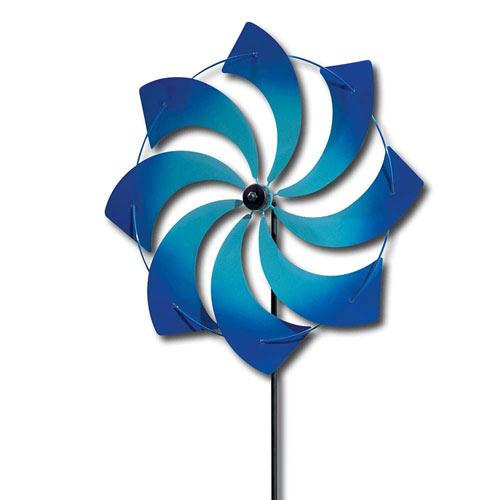 Blue Pinwheel Stake Windspinner
