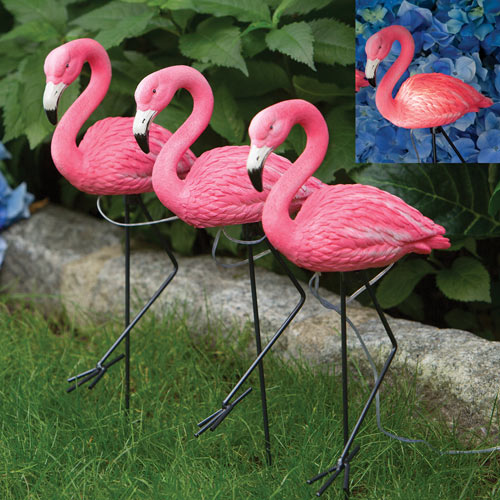 Marching Solar Flamingo Path Lights