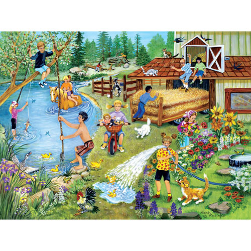 Summer Fun on the Farm 500 Piece Jigsaw Puzzle