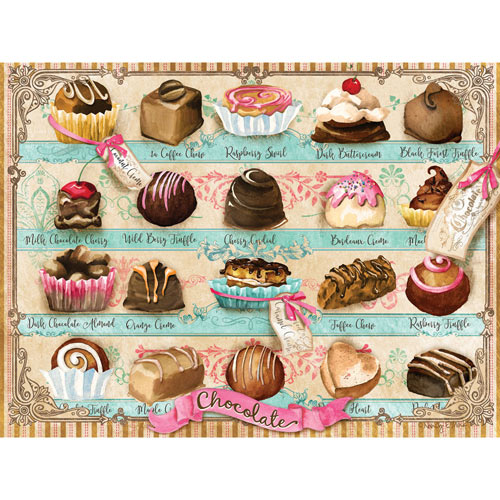 Premium Chocolates 500 Piece Jigsaw Puzzle