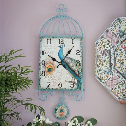 Peacock Pendulum Wall Clock