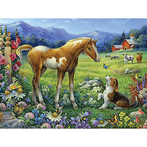 Christmas Visit 300 Large Piece Jigsaw Puzzle
