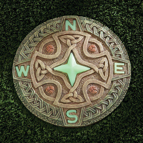 Glow-In-the-Dark Compass Stepping Stone
