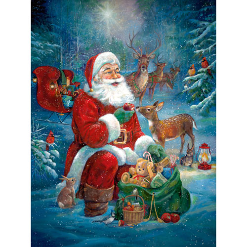 Santa's Woodland Friends 300 Large Piece Jigsaw Puzzle