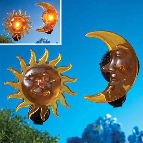 Solar Sun and Moon Home Décor