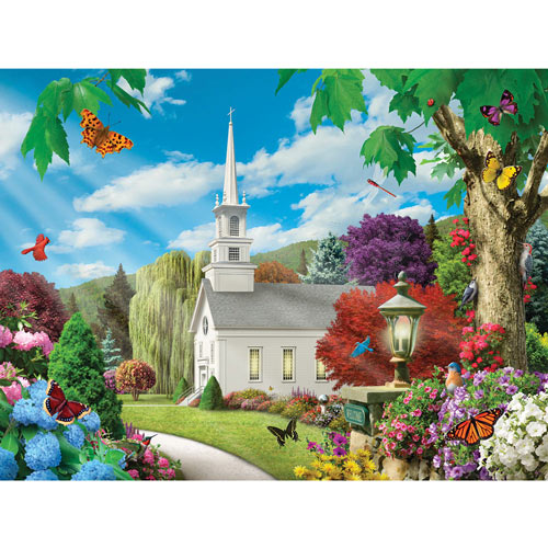 Summer Cottage 1000 Piece Jigsaw Puzzle