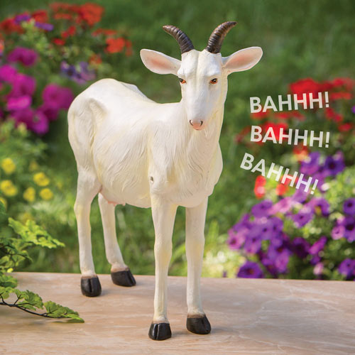 Motion Sensor Nanny Goat Garden Sculpture