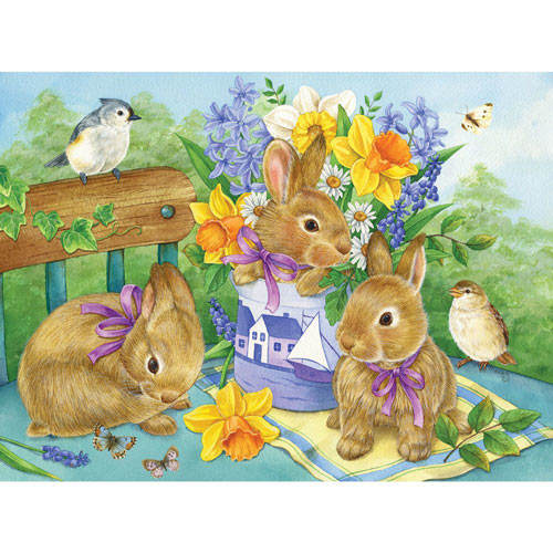 Bunny Bouquet 1000 Piece Jigsaw Puzzle
